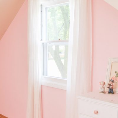 A Pink Shabby Chic Accent Wall