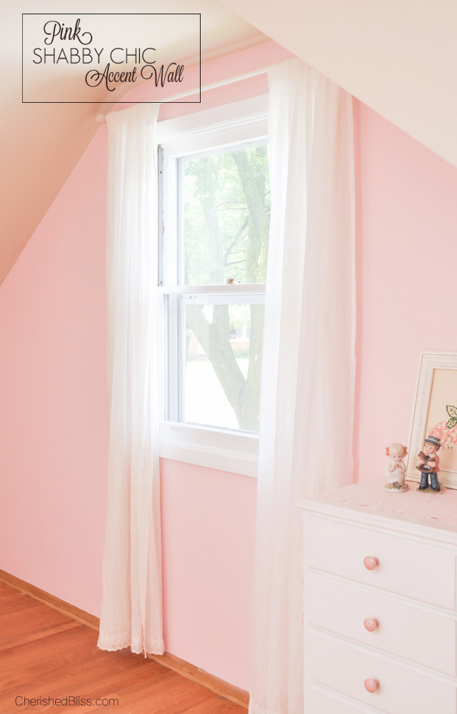 A pink shabby chic accent wall cherished bliss for Shabby chic instagram