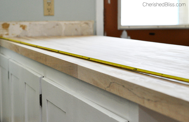 How to finish and install butcher block countertop for How to finish a wood slab