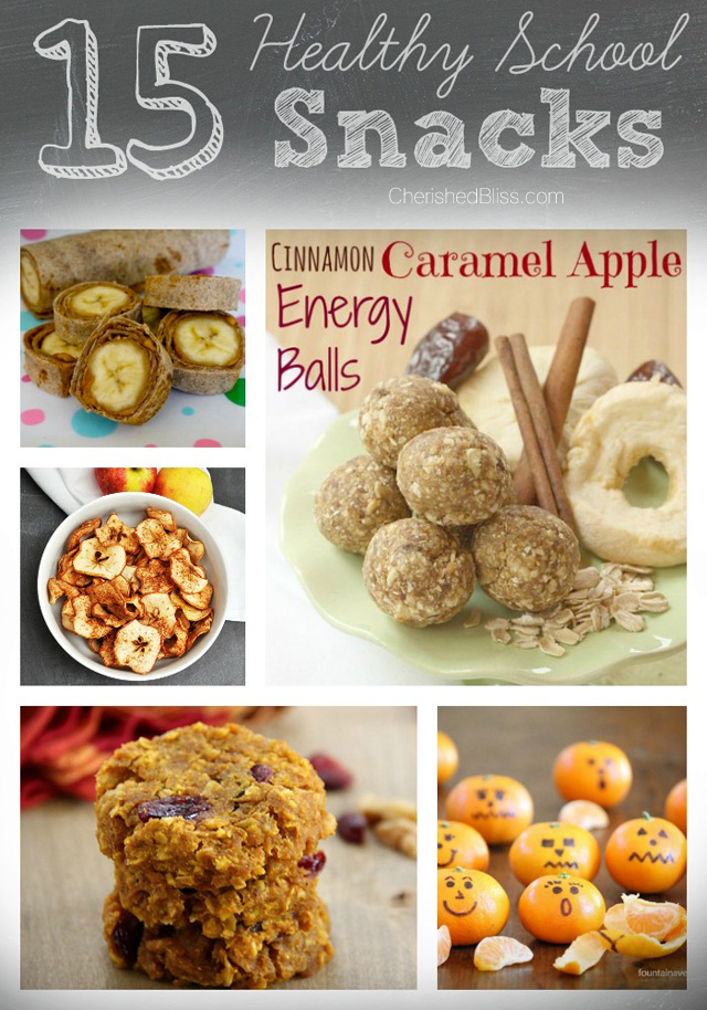 15 healthy school snacks for an awesome school year!