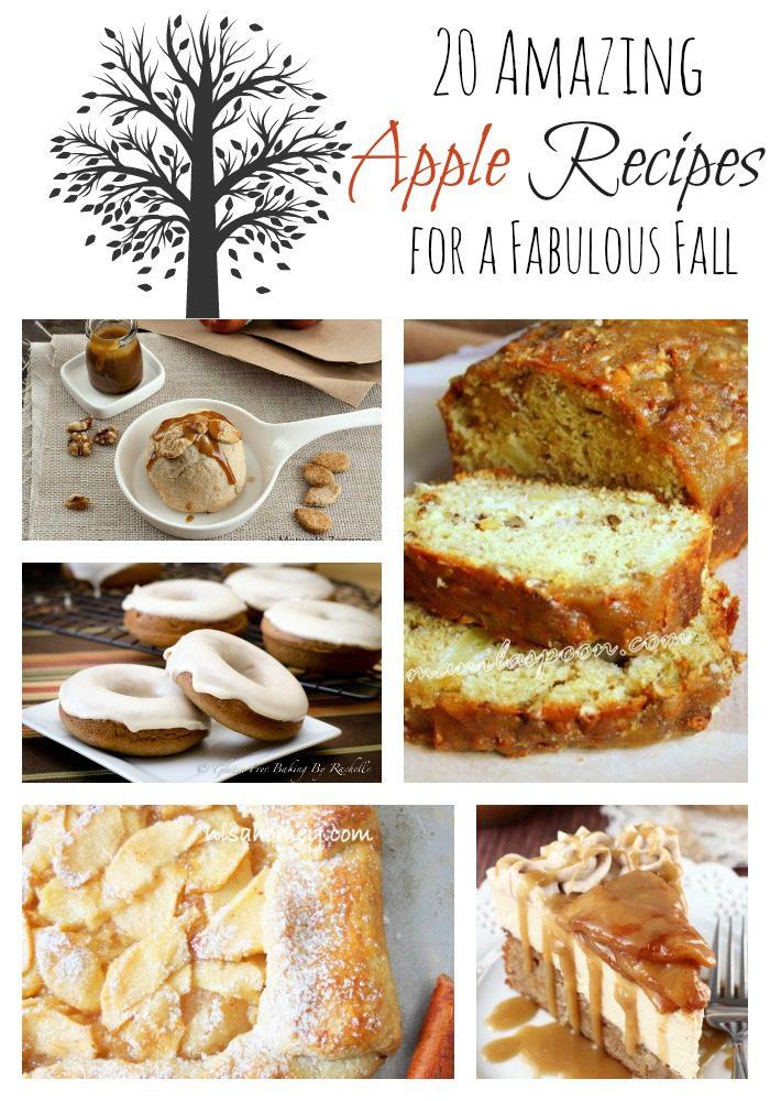 20 Amazing Apple Recipes for a Fabulous Fall via CherishedBliss.com