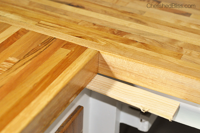 How to finish and install butcher block countertop for Butcher block countertops installation