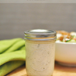 If you are watching those waist lines, then this Healthy Ranch Dressing is a wonderful option with all the right ingredients.