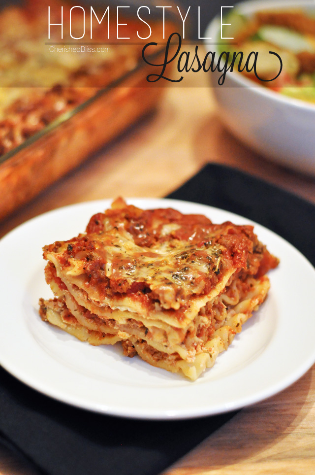 Homestyle Lasagna - Cherished Bliss