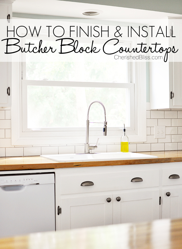 How to finish and install butcher block countertop for Installing butcher block countertops