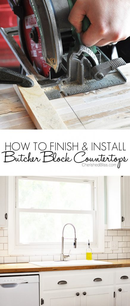 How to finish and install butcher block countertop How to install butcher block countertop