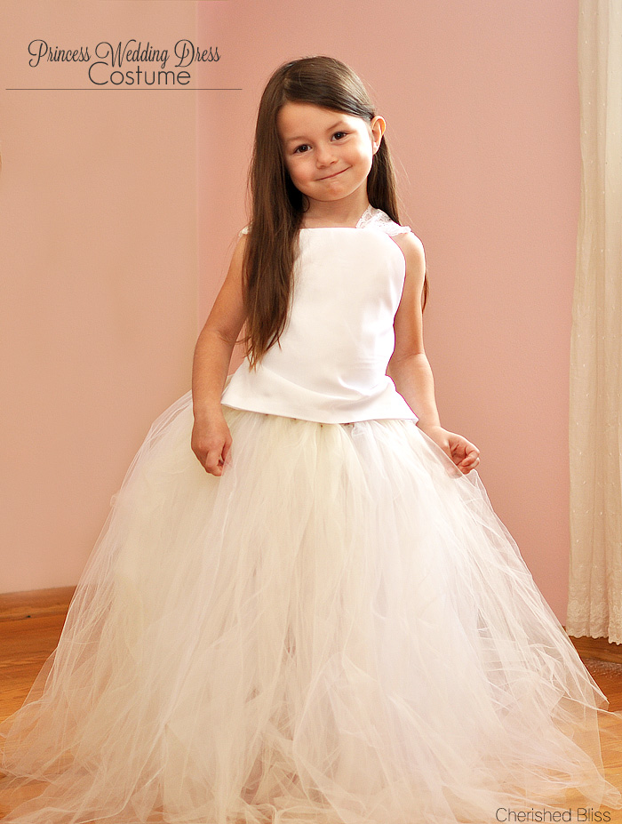 A Princess Wedding Dress Costume With Tutorial On How To Make Full Length Tulle