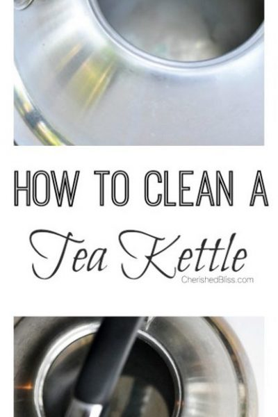 An easy, safe, and all natural way to clean a tea kettle.