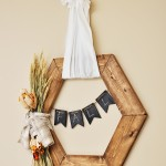 Wooden Hexagon Rustic Fall Wreath Tutorial copy
