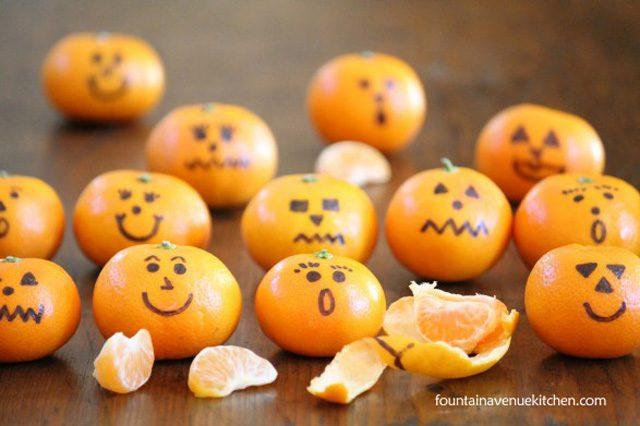 jack-o-lanterns clementines