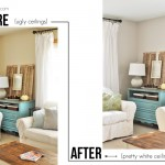 Do you hate painting your ceilings? Try this Mess-Free tutorial on How to Paint Ceilings!
