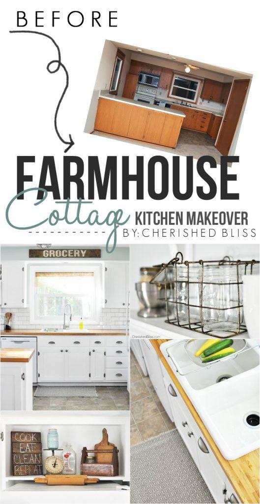 Farmhouse Cottage Kitchen Reveal Cherished Bliss