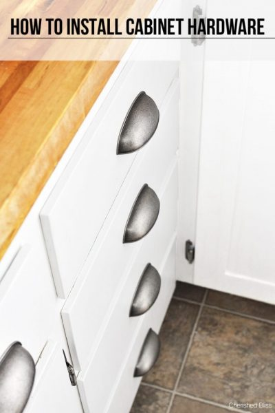 How to Install Cabinet Hardware Perfectly Straight - the easy way