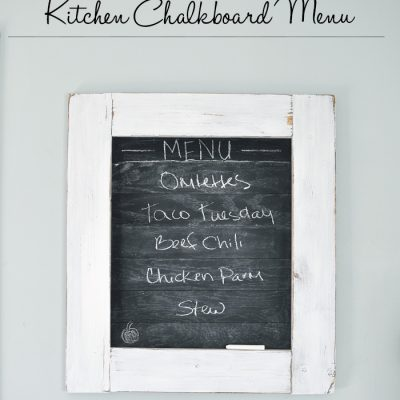 How to Make a Planked Kitchen Chalkboard Menu
