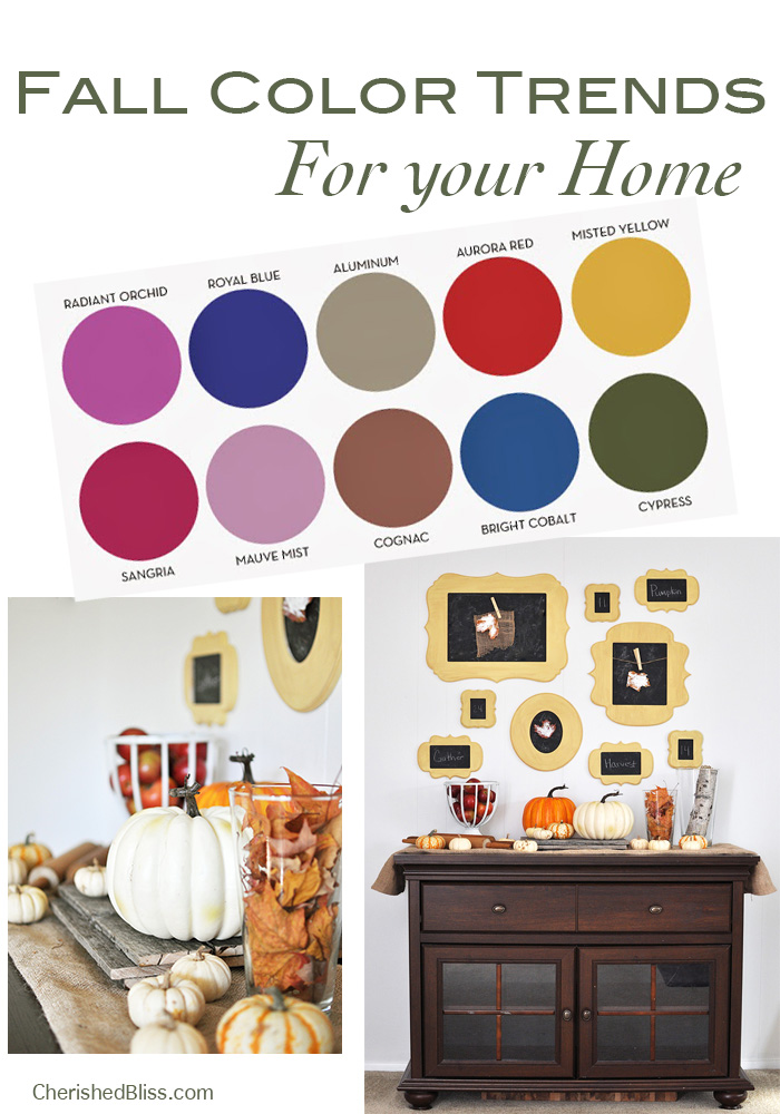 Fall Color Trends for your home