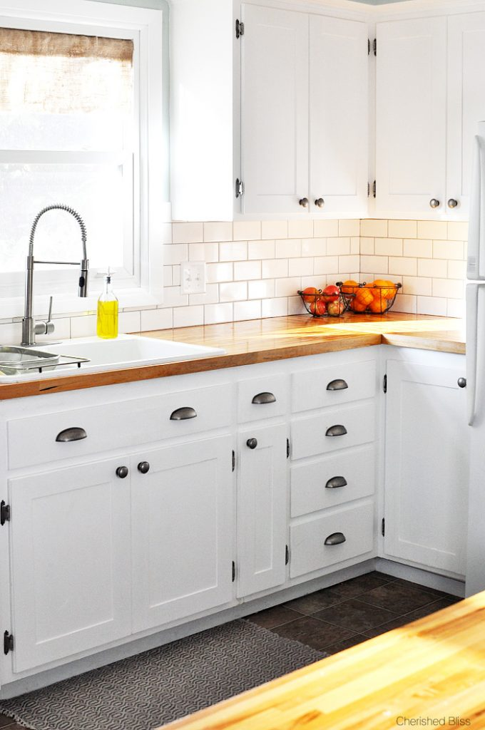 Kitchen hack diy shaker style cabinets cherished bliss for Farm style kitchen handles