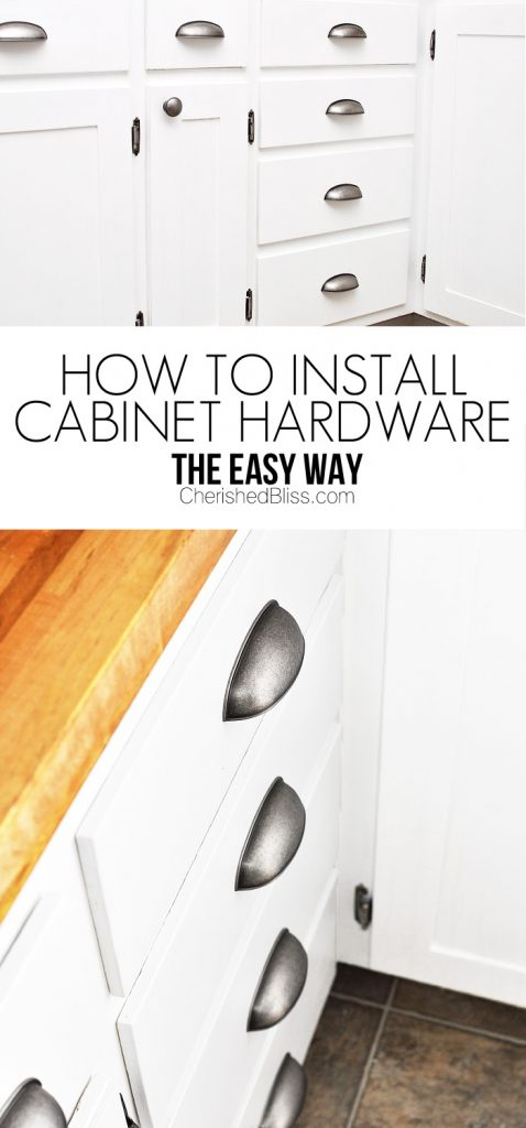 How To Install Cabinet Hardware And Get It Straight