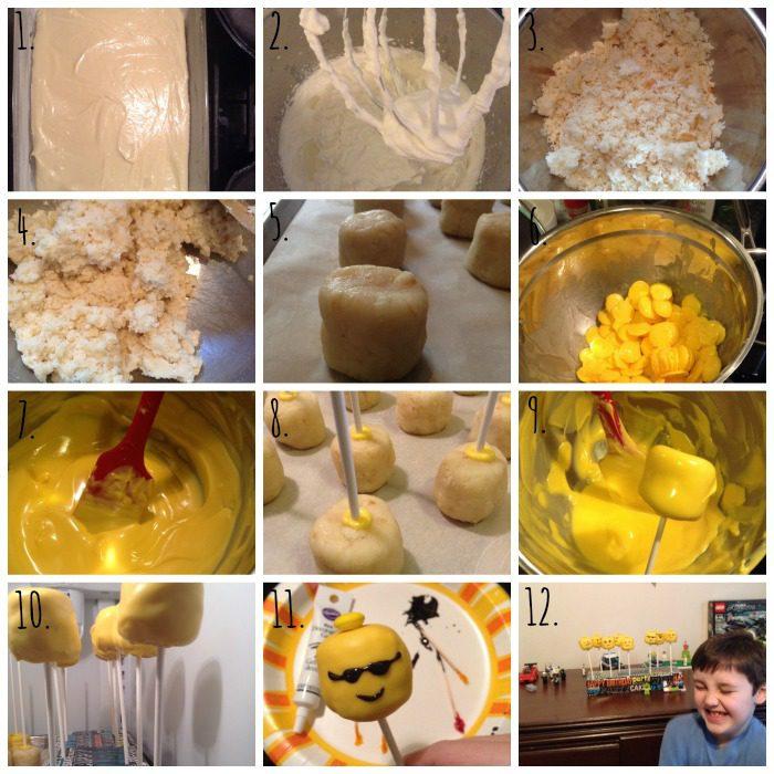 How to make Lego Cake Pops via CherishedBliss.com