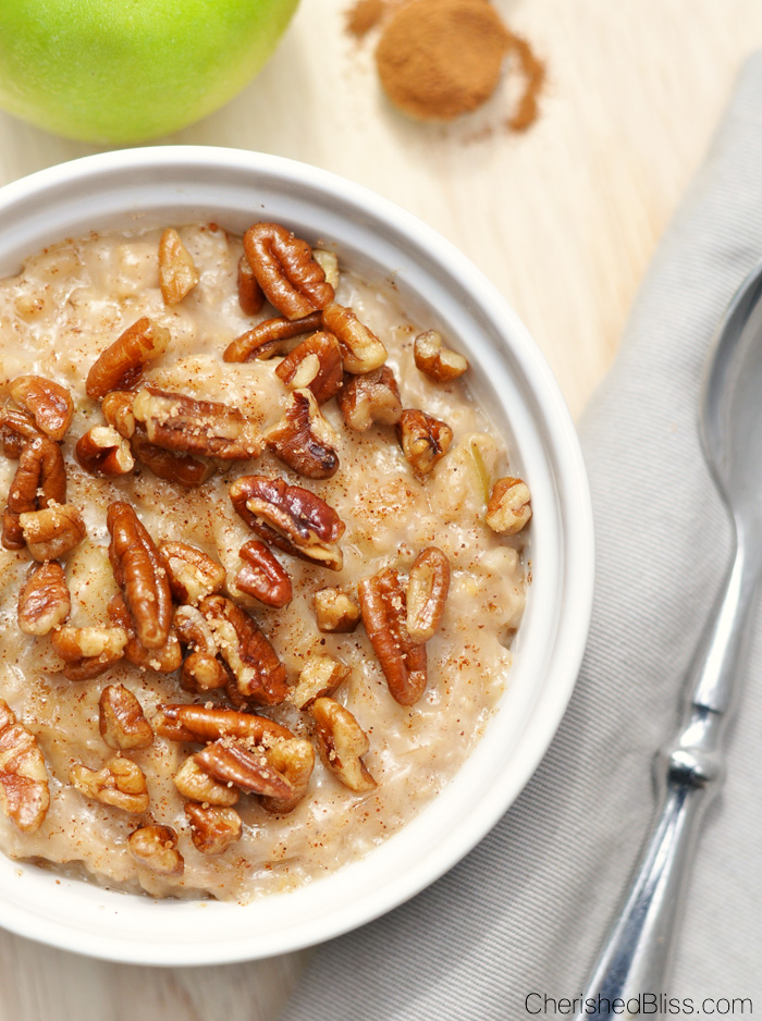Fall mornings can start out rather chilly and nothing will warm you and your family up like Slow Cooker Apple Pie Oatmeal.