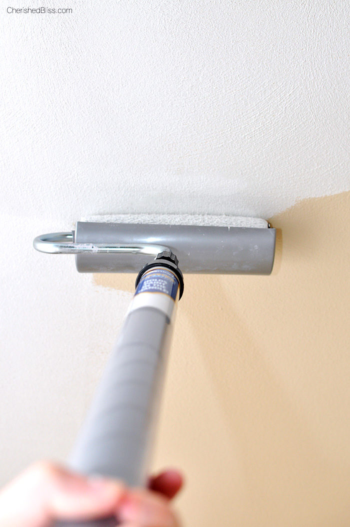 Paint Ceiling with a Roller