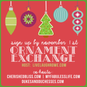 Join in on the fun and participate in this year's Christmas Ornament Exchange!