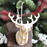 3D Deer Head Ornament