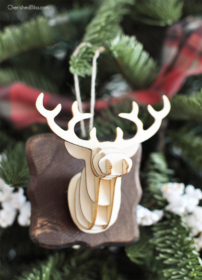 3-D Deer Head DIY Christmas Tree Ornaments | Cherished Bliss