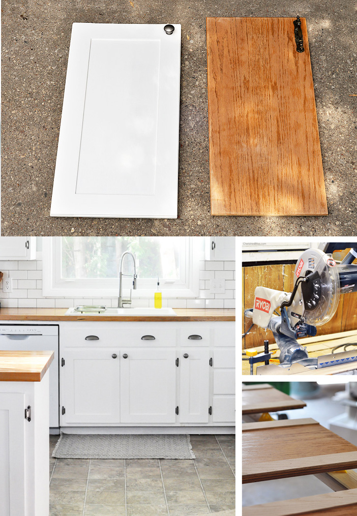 Kitchen hack diy shaker style cabinets cherished bliss for Shaker style kitchen cabinets