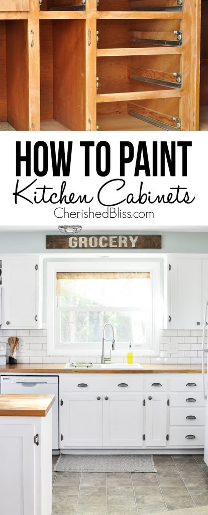 do you have ugly kitchen cabinets that need a makeover this tutorial shows you how - Can You Paint Your Kitchen Cabinets