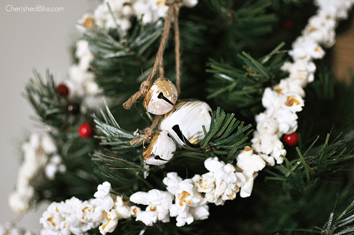 Rustic Jingle Bell Ornament Tutorial via cherishedbliss.com