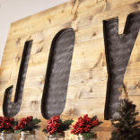 DIY Christmas Joy Sign Tutorial