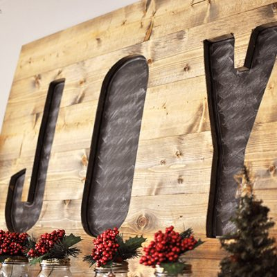 DIY Christmas Joy Sign Tutorial