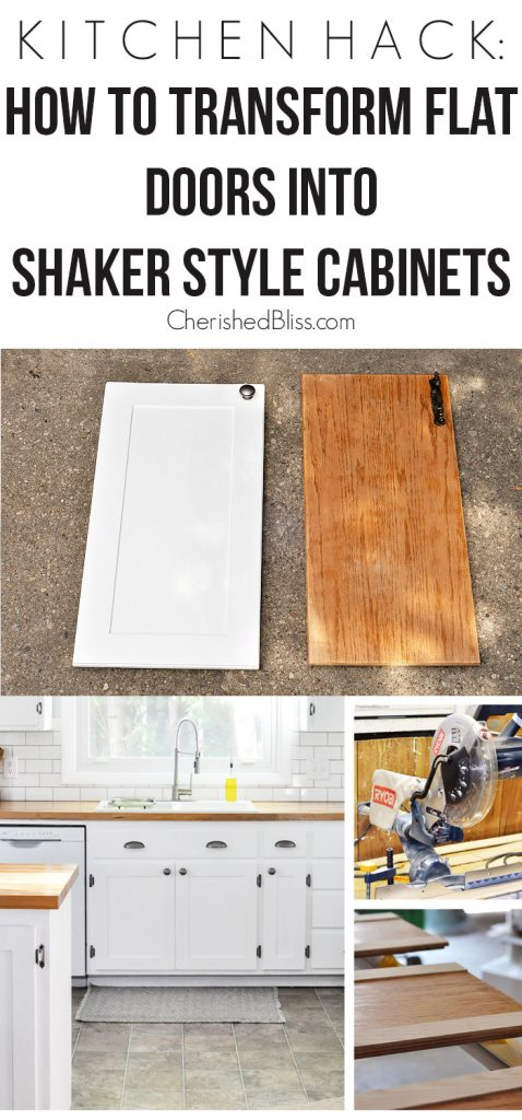 wonderful How To Transform Your Kitchen Cabinets #7: With this Kitchen Hack you will be able to transform your flat doors into  shaker style