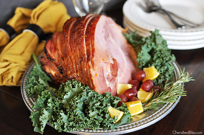 This delicious Orange Balsamic Holiday Glazed Ham Recipe is the perfect addition to your Thanksgiving or Christmas meal!