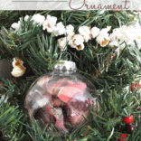 Plaid Christmas Ball Ornament