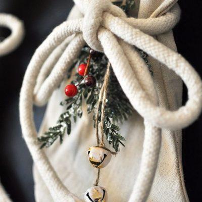 DIY Drop Cloth Stockings Tutorial
