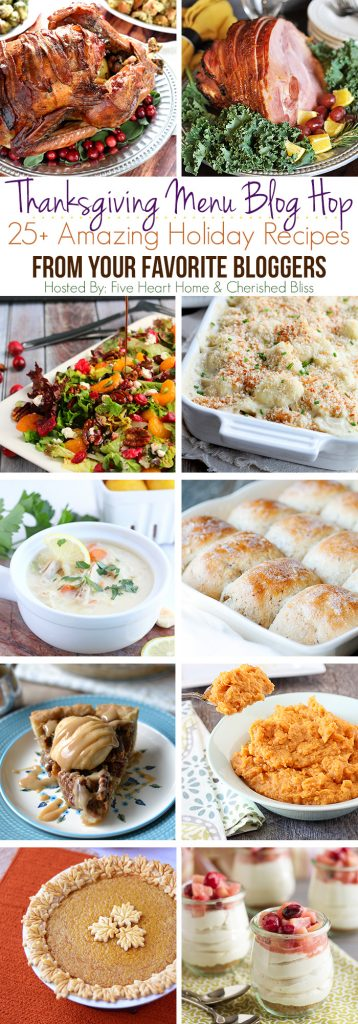 Thanksgiving Recipes Blog Hop