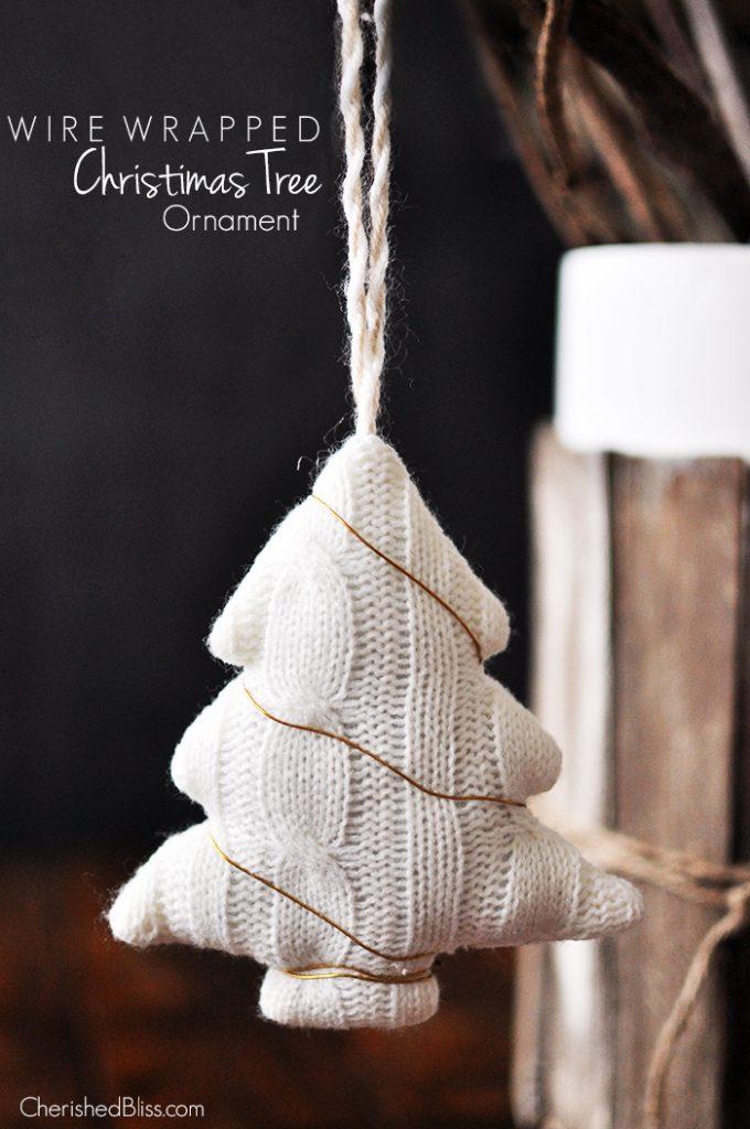 Wire Wrapped Christmas Tree Ornament tutorial via cherishedbliss.com