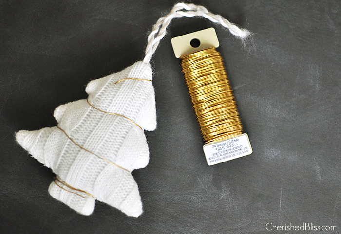Wire Wrapped Christmas Tree Ornament tutorial via cherishedbliss.com