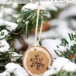 Wood Burned Snowflake Ornament Tutorial via cherishedbliss.com