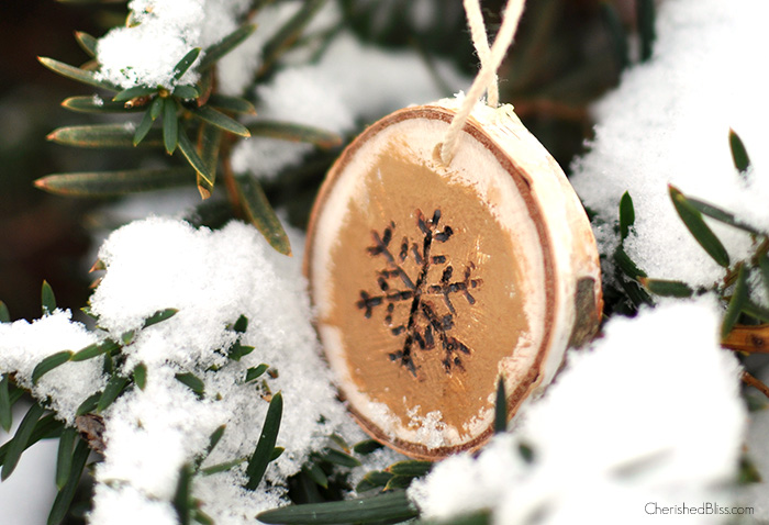 Wood Burned Snowflake