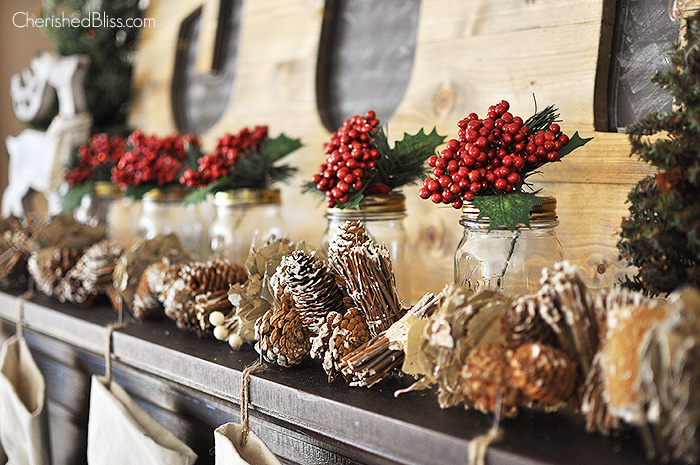 88 Rustic Christmas Mantel Decor Fireplace Mantel Decor Ideas