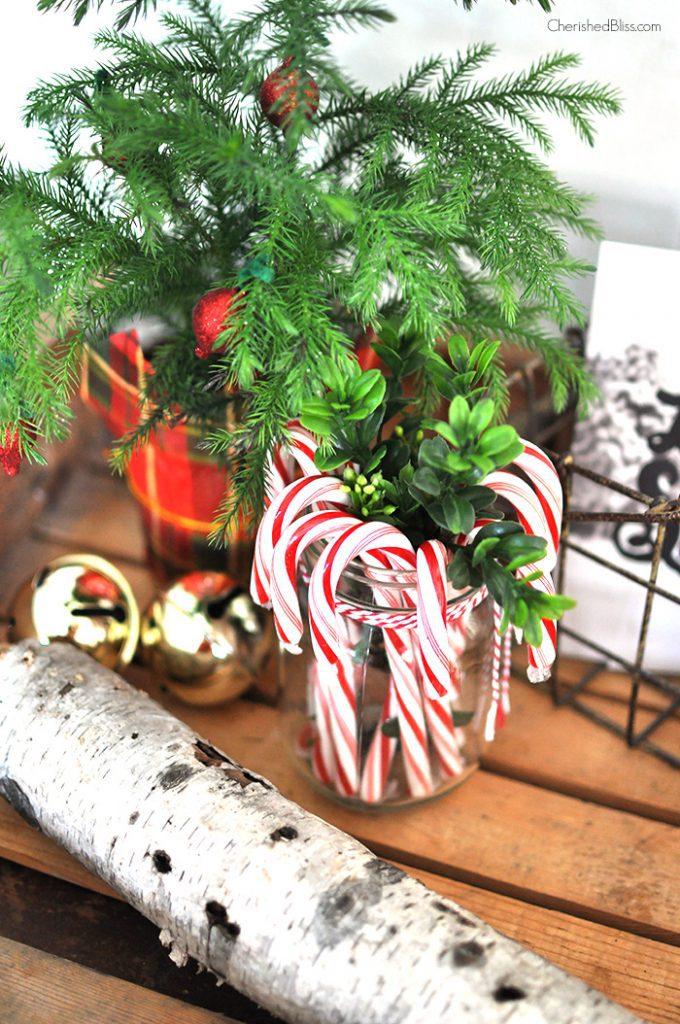 Take a stroll through this cottage farmhouse Christmas Home Tour 2014 via cherishedbliss.com