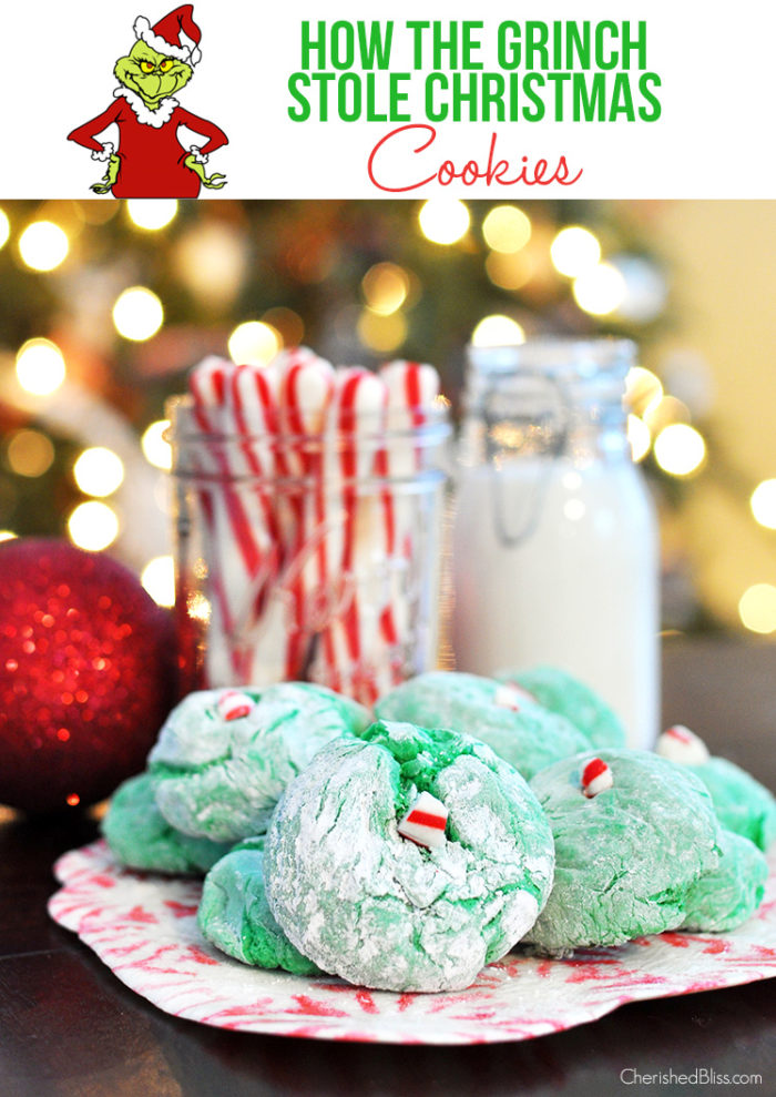 Create special memories this holiday season with these Grinch inspired Cool Whip Cookies - the perfect Christmas Dessert to make with kids!