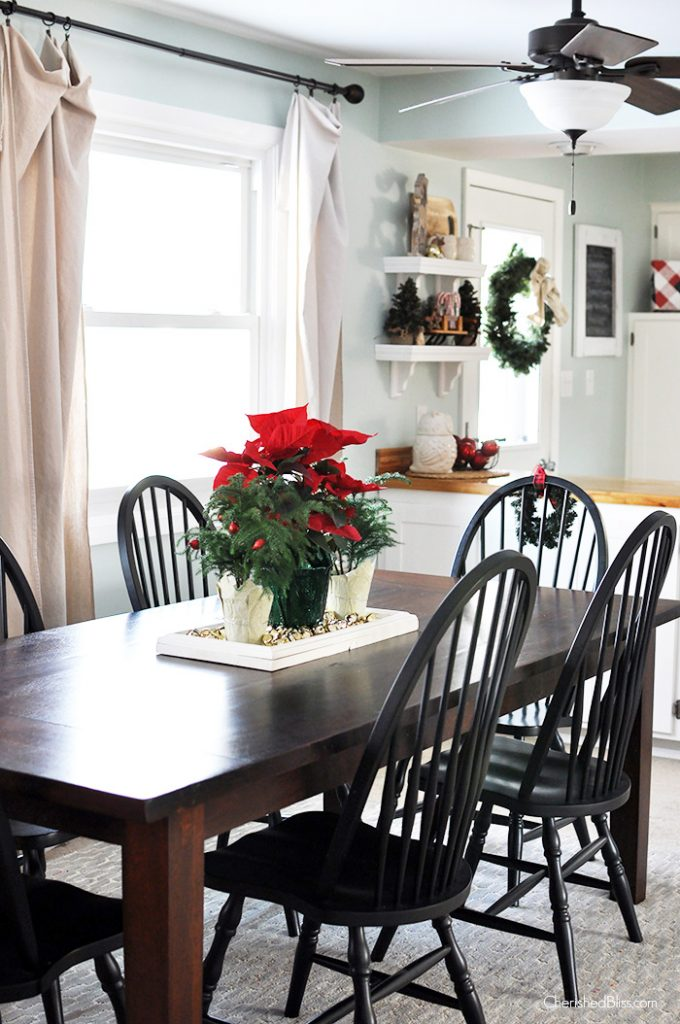 Take a stroll through this cottage farmhouse Christmas Home Tour 2014 via cherishedbliss.com