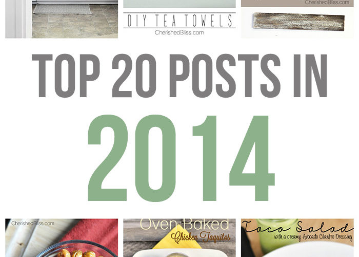 top 20 posts in 2014 from Cherished Bliss