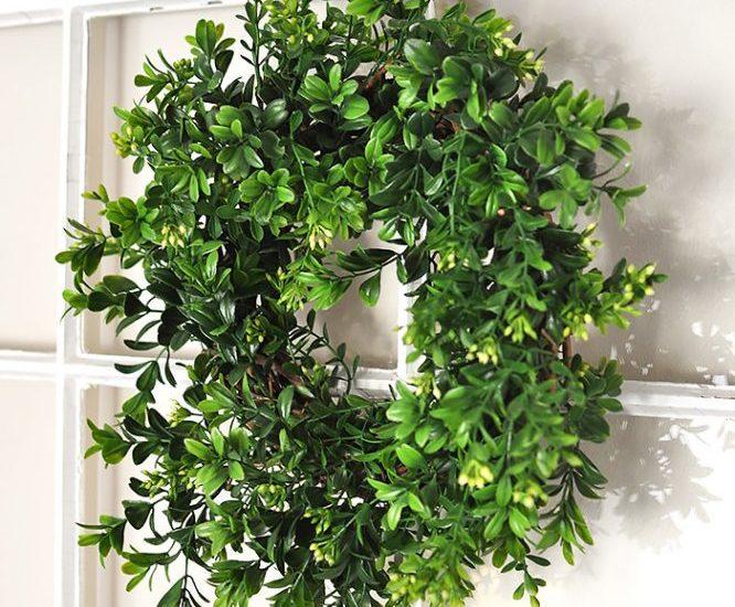 Diy Boxwood Wreath Tutorial Cherished Bliss