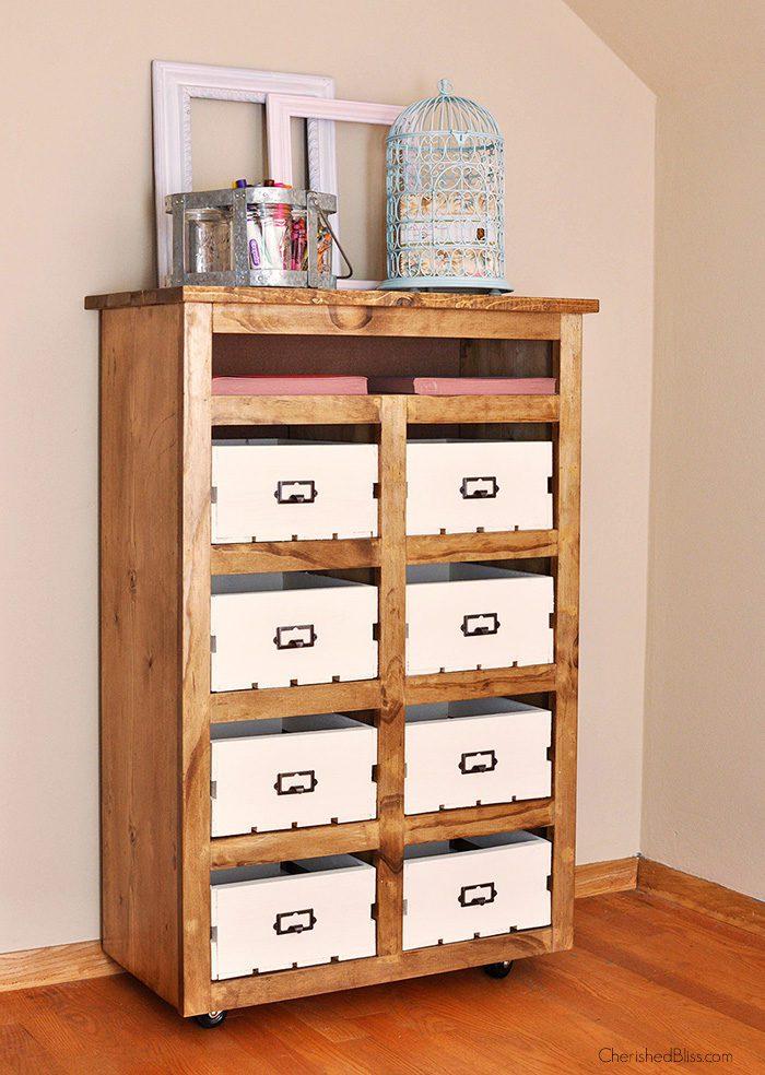 DIY Crate Storage Unit 1
