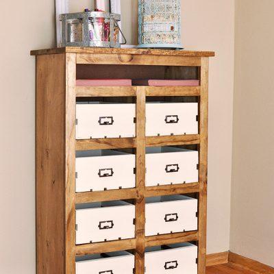DIY Crate Storage Unit