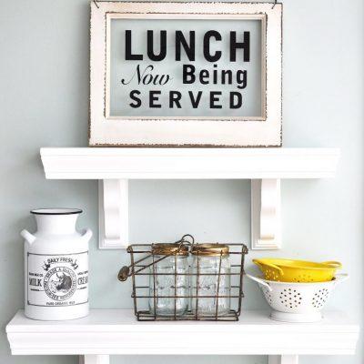 Easy to Build Kitchen Shelves